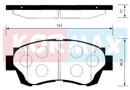 KORMAX KBP072 | Колодки тормозные, передние (с антискрипной пластиной) D2088 | Купить в интернет-магазине Макс-Плюс: Автозапчасти в наличии и под заказ