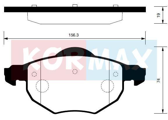 KORMAX KBP085 | Колодки тормозные, задние (с антискрипной пластиной) D6124 | Купить в интернет-магазине Макс-Плюс: Автозапчасти в наличии и под заказ