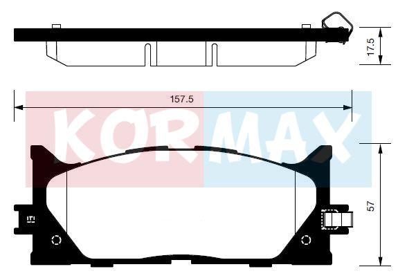 KORMAX KBP089 | Колодки тормозные, передние (с антискрипной пластиной) D2270 | Купить в интернет-магазине Макс-Плюс: Автозапчасти в наличии и под заказ