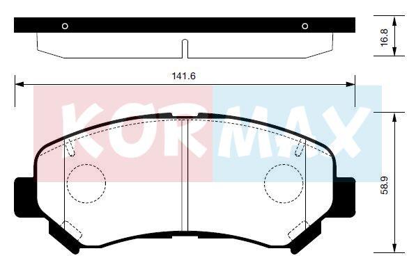 KORMAX KBP090 | колодки тормозные nissan x-trail 07- renault kole | Купить в интернет-магазине Макс-Плюс: Автозапчасти в наличии и под заказ