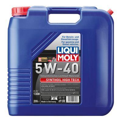 LIQUI MOLY 1308 | LiquiMoly 5W40 Synthoil High Tech (20L) масло мотор.!син.\API SM/CF,ACEA A3-04/B4-04:MB229.3,BMW,VW | Купить в интернет-магазине Макс-Плюс: Автозапчасти в наличии и под заказ