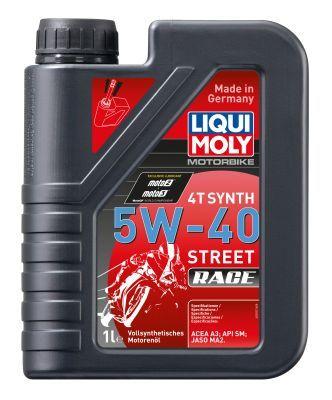 LIQUI MOLY 2592 | Масло моторное Liqui Moly Motorbike 4T Synth Street Race 5W40 (Синтетика, API SN Plus) 1L | Купить в интернет-магазине Макс-Плюс: Автозапчасти в наличии и под заказ