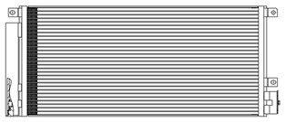 LUZAR LRAC2151   Радиатор кондиционера   Купить в интернет-магазине Макс-Плюс: Автозапчасти в наличии и под заказ