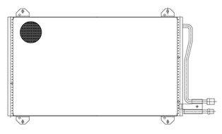 LUZAR lrac1530   Радиатор кондиц. для а/м  Merceds-Benz Sprinter (95-) (LRAC 1530)   Купить в интернет-магазине Макс-Плюс: Автозапчасти в наличии и под заказ