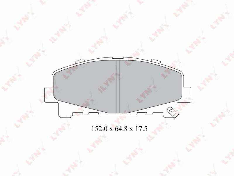 LYNX BD3424 | Колодки тормозные дисковые | Купить в интернет-магазине Макс-Плюс: Автозапчасти в наличии и под заказ