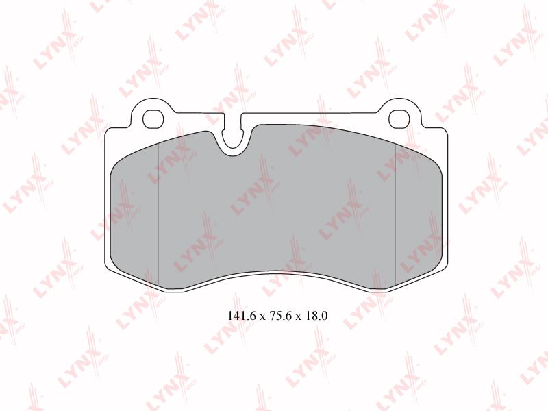 LYNX BD5349 | BD-5349 Колодки тормозные LYNXauto | Купить в интернет-магазине Макс-Плюс: Автозапчасти в наличии и под заказ