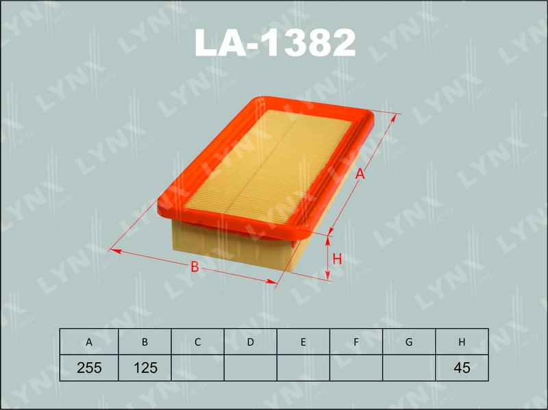 LYNX LA1382 | Фильтр воздушный | Купить в интернет-магазине Макс-Плюс: Автозапчасти в наличии и под заказ