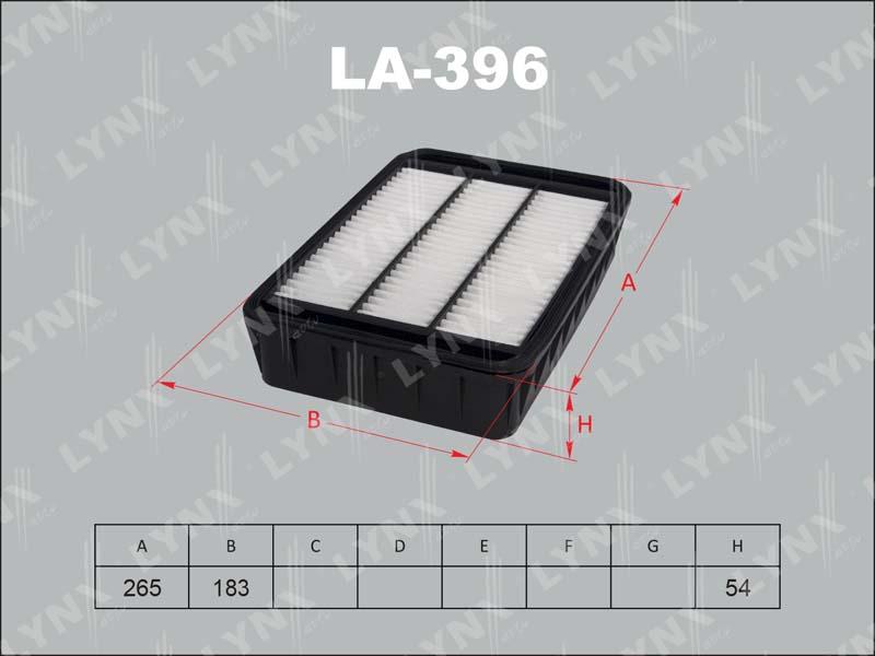 LYNX LA396 | Фильтр воздушный | Купить в интернет-магазине Макс-Плюс: Автозапчасти в наличии и под заказ