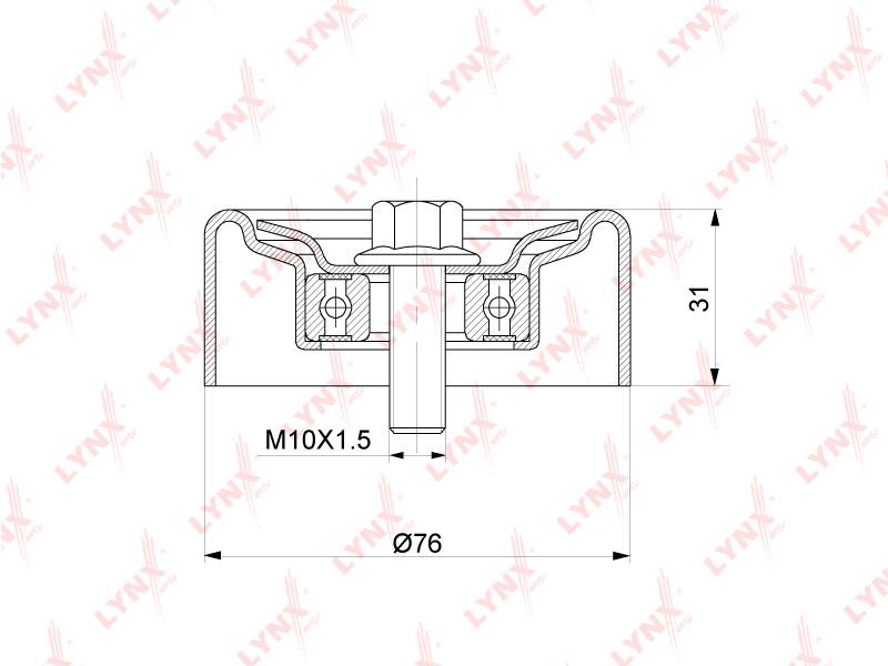 LYNX PB5349 | PB-5349 Ролик натяжного механизма / приводной LYNXauto | Купить в интернет-магазине Макс-Плюс: Автозапчасти в наличии и под заказ