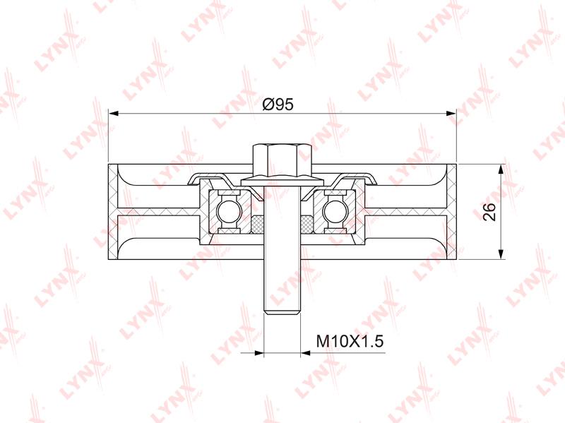 LYNX PB7217 | Ролик обводной приводного ремня | Купить в интернет-магазине Макс-Плюс: Автозапчасти в наличии и под заказ