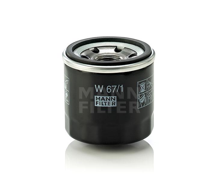 MANN FILTER W671 | Фильтр масляный | Купить в интернет-магазине Макс-Плюс: Автозапчасти в наличии и под заказ