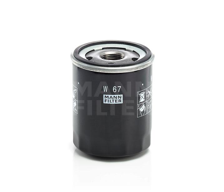MANN FILTER W67 | Фильтр масляный | Купить в интернет-магазине Макс-Плюс: Автозапчасти в наличии и под заказ