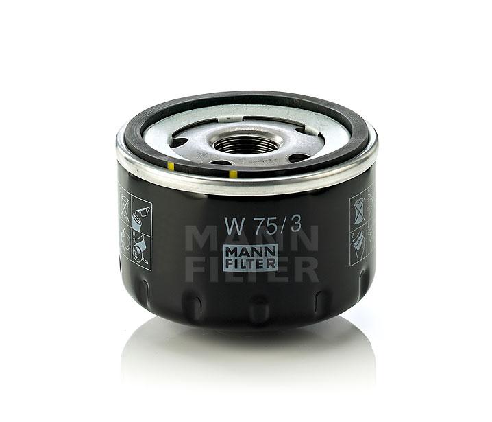 MANN FILTER W753 | Фильтр масляный | Купить в интернет-магазине Макс-Плюс: Автозапчасти в наличии и под заказ