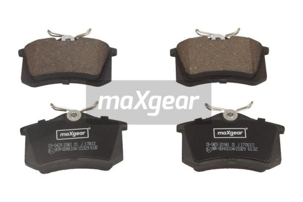 MAXGEAR 190429 | Комплект тормозных колодок, дисковый тормоз | Купить в интернет-магазине Макс-Плюс: Автозапчасти в наличии и под заказ