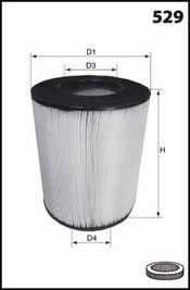 MECAFILTER EL9092   Воздушный фильтр   Купить в интернет-магазине Макс-Плюс: Автозапчасти в наличии и под заказ