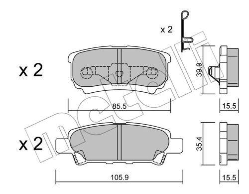 METELLI 2207370 | Тормозные колодки задние Mitsibishi Lancer 9/10/Otlander 03-08 | Купить в интернет-магазине Макс-Плюс: Автозапчасти в наличии и под заказ