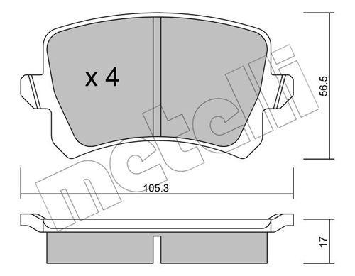 METELLI 2208060 | К-т дисков. тормоз. колодок | Купить в интернет-магазине Макс-Плюс: Автозапчасти в наличии и под заказ