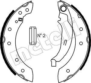 METELLI 530350 | колодки барабанные!\ Renault Laguna 1.6i-1.9TD 97-01/Logan 1.4-1.6 04> | Купить в интернет-магазине Макс-Плюс: Автозапчасти в наличии и под заказ