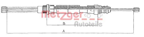 METZGER 11607 | Трос | Купить в интернет-магазине Макс-Плюс: Автозапчасти в наличии и под заказ