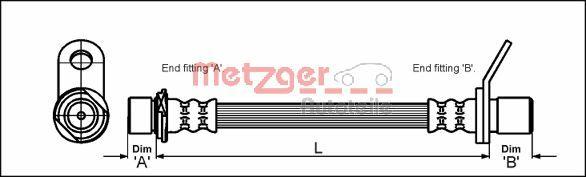 METZGER 4112171 | Шлангопровод | Купить в интернет-магазине Макс-Плюс: Автозапчасти в наличии и под заказ