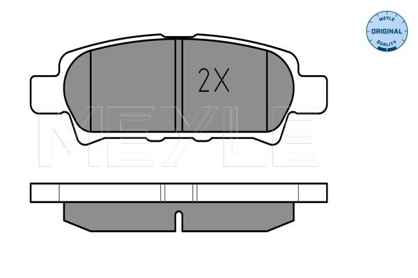 MEYLE 0252401416W | Комплект тормозных колодок, дисковый тормоз | Купить в интернет-магазине Макс-Плюс: Автозапчасти в наличии и под заказ