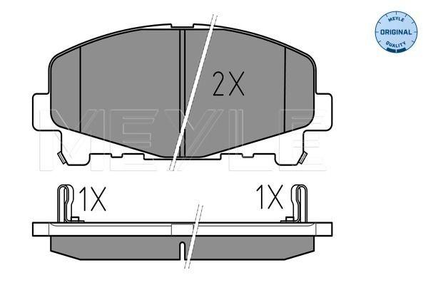 MEYLE 0252476616 | Колодки тормозные (дисковые) MEYLE | Купить в интернет-магазине Макс-Плюс: Автозапчасти в наличии и под заказ