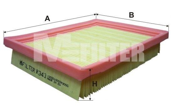MFILTER K343 | Воздушный фильтр | Купить в интернет-магазине Макс-Плюс: Автозапчасти в наличии и под заказ
