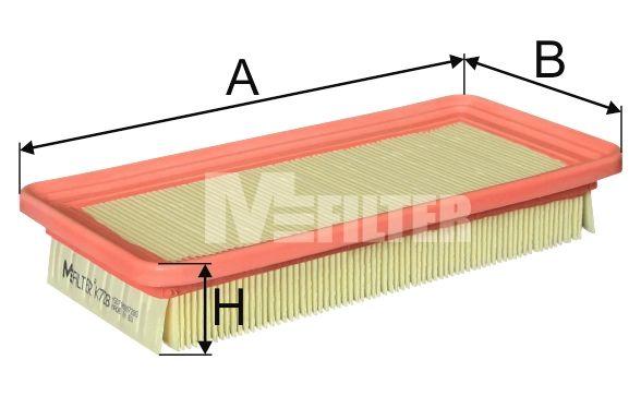 MFILTER K728 | Фильтр воздушный | Купить в интернет-магазине Макс-Плюс: Автозапчасти в наличии и под заказ