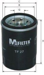 MFILTER TF27 | Фильтр масляный | Купить в интернет-магазине Макс-Плюс: Автозапчасти в наличии и под заказ