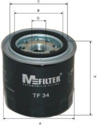 MFILTER TF34 | Фильтр масляный | Купить в интернет-магазине Макс-Плюс: Автозапчасти в наличии и под заказ