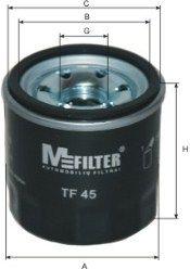 MFILTER TF45 | Фильтр масляный | Купить в интернет-магазине Макс-Плюс: Автозапчасти в наличии и под заказ