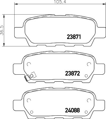 MINTEX MDB2261   Колодки тормозные задние дисковые к-кт   Купить в интернет-магазине Макс-Плюс: Автозапчасти в наличии и под заказ