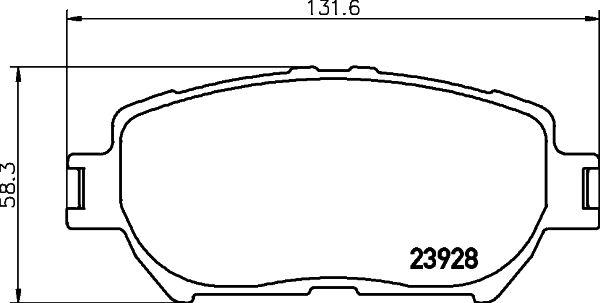 MINTEX MDB2263 | колодки тормозные | Купить в интернет-магазине Макс-Плюс: Автозапчасти в наличии и под заказ