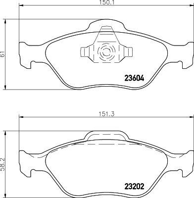 MINTEX MDB2314 | Колодки тормозные (Колодки тормозные дисковые передн. COURIER Kasten (J5_ J3_) COURIER Box (J5_ J3 | Купить в интернет-магазине Макс-Плюс: Автозапчасти в наличии и под заказ