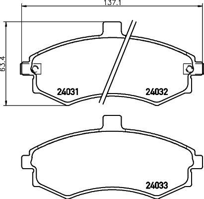 MINTEX MDB2542 | Колодки тормозные дисковые передние | Купить в интернет-магазине Макс-Плюс: Автозапчасти в наличии и под заказ