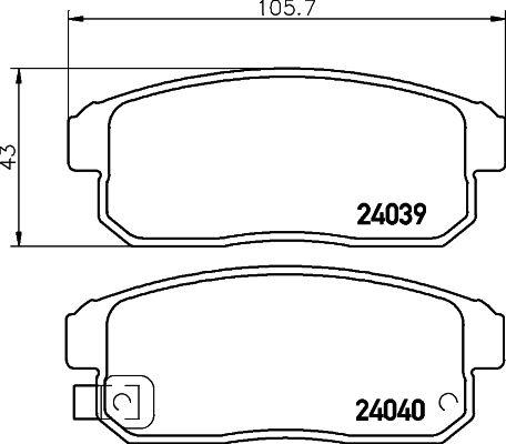 MINTEX MDB2588 | Колодки тормозные задние дисковые к-кт | Купить в интернет-магазине Макс-Плюс: Автозапчасти в наличии и под заказ