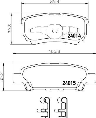 MINTEX MDB2612 | Колодки тормозные задние дисковые к-кт | Купить в интернет-магазине Макс-Плюс: Автозапчасти в наличии и под заказ