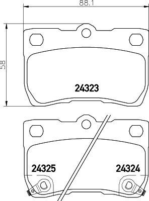 MINTEX MDB2728 | 24323/15.5mm/Торм.колодки Lexus GS 05-> задн. | Купить в интернет-магазине Макс-Плюс: Автозапчасти в наличии и под заказ