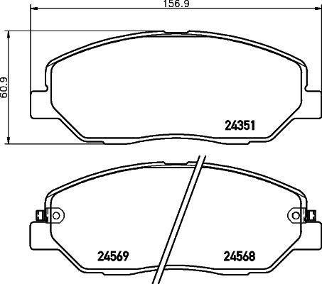 MINTEX MDB2777   Колодки тормозные передние к-кт   Купить в интернет-магазине Макс-Плюс: Автозапчасти в наличии и под заказ