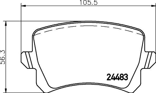 MINTEX MDB2888 | Колодки тормозные задние дисковые к-кт | Купить в интернет-магазине Макс-Плюс: Автозапчасти в наличии и под заказ