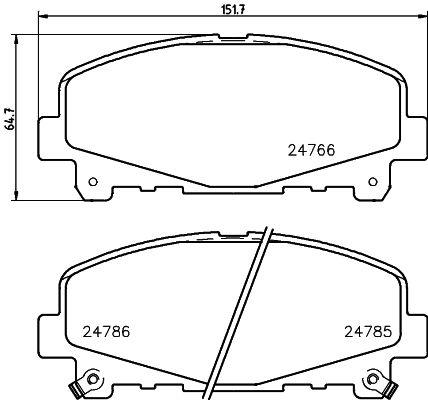MINTEX MDB2954 | Колодки тормозные дисковые | Купить в интернет-магазине Макс-Плюс: Автозапчасти в наличии и под заказ