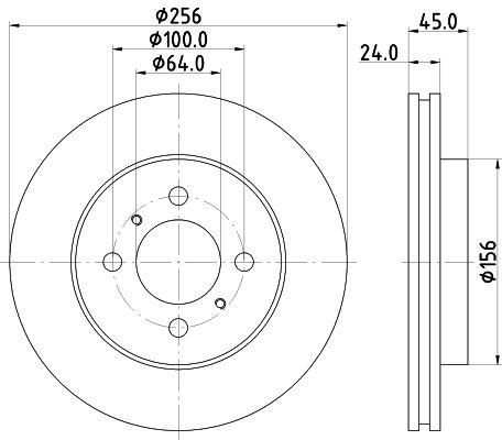 MINTEX MDC944 | Диск тормозной передний вентилируемый | Купить в интернет-магазине Макс-Плюс: Автозапчасти в наличии и под заказ