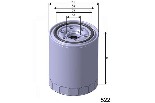 MISFAT Z476 | Фильтр масляный | Купить в интернет-магазине Макс-Плюс: Автозапчасти в наличии и под заказ