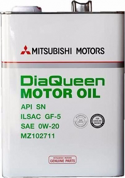 MITSUBISHI MZ102711 | Масло моторное Mitsubishi DiaQueen SN/GF-5 0W20, 4л | Купить в интернет-магазине Макс-Плюс: Автозапчасти в наличии и под заказ