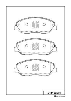 MK KASHIYAMA D11198MH | D11198MH колодки дисковые передние!\ Hyundai Santa Fe 2.7/2.2CRDi 05> | Купить в интернет-магазине Макс-Плюс: Автозапчасти в наличии и под заказ
