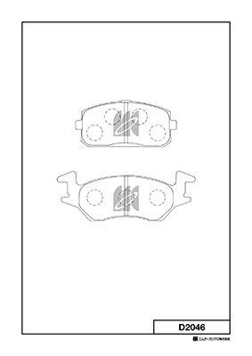 MK KASHIYAMA D2046   Колодки тормозные дисковые   Купить в интернет-магазине Макс-Плюс: Автозапчасти в наличии и под заказ