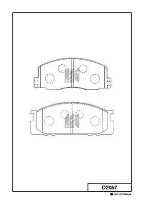 MK KASHIYAMA D2057   Колодки тормозные дисковые   Купить в интернет-магазине Макс-Плюс: Автозапчасти в наличии и под заказ