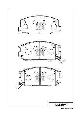MK KASHIYAMA D2210M   Колодки передние   Купить в интернет-магазине Макс-Плюс: Автозапчасти в наличии и под заказ