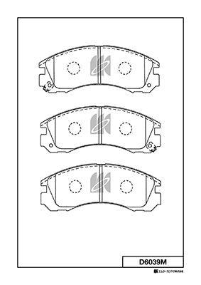 MK KASHIYAMA D6039M | Заменён на D6039MH Колодки тормозные дисковые пер.MITSUBISHI OUTLANDER 03-, PAJERO 00- D6039M | Купить в интернет-магазине Макс-Плюс: Автозапчасти в наличии и под заказ