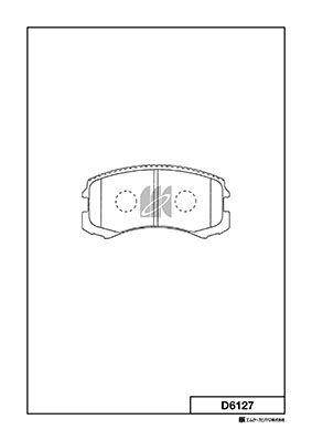 MK KASHIYAMA D6127   Тормозные колодки   Купить в интернет-магазине Макс-Плюс: Автозапчасти в наличии и под заказ